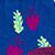 441 Azul con hojas